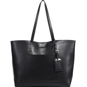 Prada Daino Leather Open Tote Black $1,390