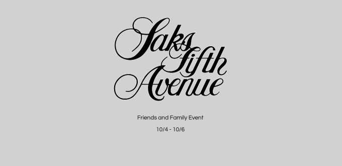 Saks Fifth Avenue Friends Family Event