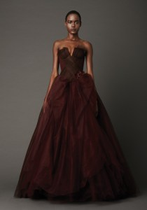 Vera Wang Elegant Red Wedding Gown