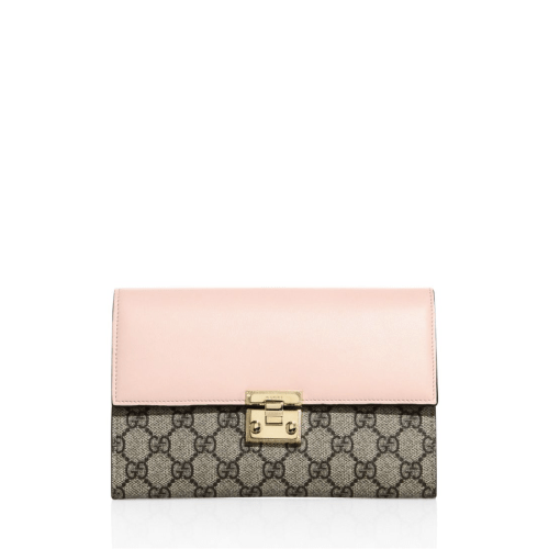 Gucci Padlock GG Supreme Leather Pouch, $980