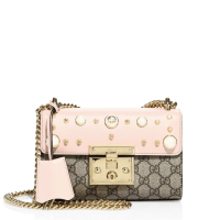 Gucci Padlock Studded Leather Shoulder Bag, $1,980
