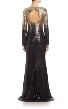 Pamela Roland Beaded Ombre Chiffon Gown Side $6,995