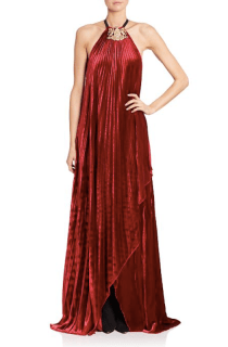 Ralph Lauren Collection Pamela Pleated Halter Gown, $4,990