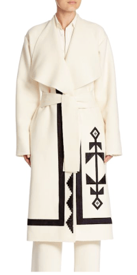 Ralph Lauren Collection Sherman Coat, $4690; Francoise Shirt, $1,190; Harrison Pant, $1,450