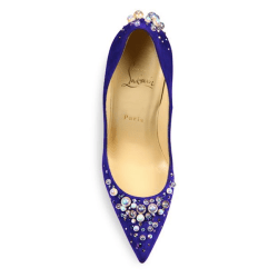 Christian Louboutin Candidate Pearly Suede Pumps Purple Pop, $1,195