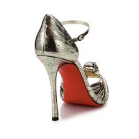 Christian Louboutin Marchavekel Knotted Metallic D'Orsay Pumps Back $945