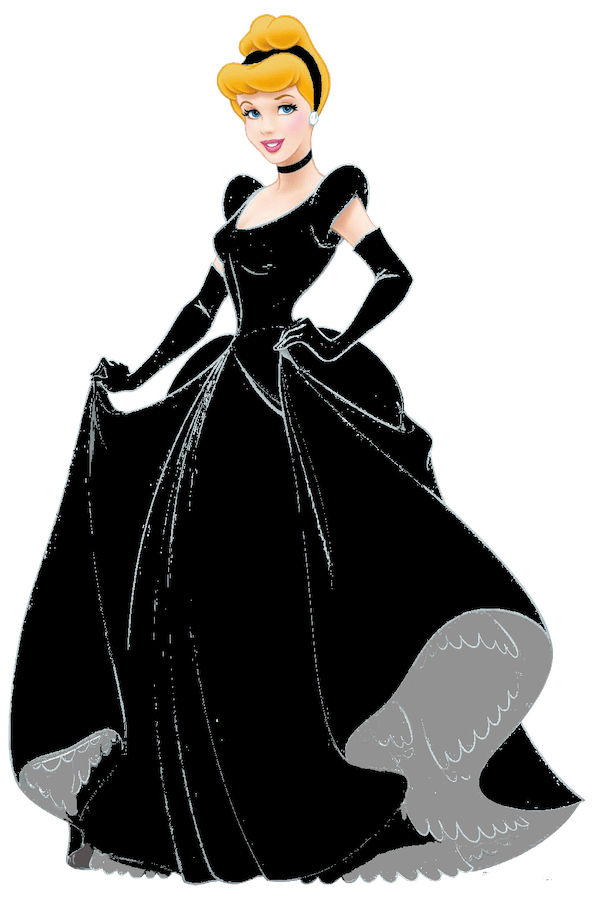 Make Your Fairytale Come True Cinderella Wearing a Black Gown