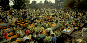 Day of the Dead Celebration Mexican Cemetary