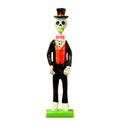 Day of the Dead Skeleton Figurine 2 $8