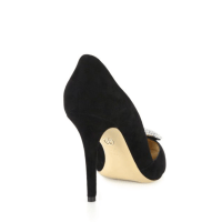 Giorgio Armani Embellished Suede D'Orsay Point-Toe Pumps Back $1,045