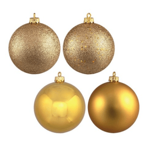 Gold Assorted Finishes Ornament Set $27.60