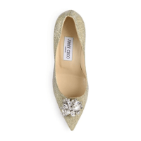 Jimmy Choo Mamey 90 Glitter & Crystal Point-Toe Pumps Top $975