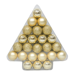 Wondershop 40mm Gold Ornament Set $5