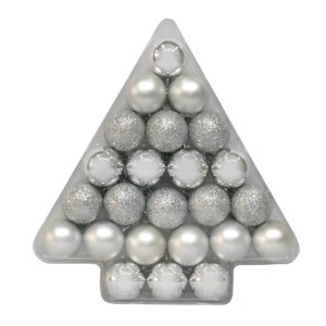 Wondershop 40mm Silver Shatterproof Ornament Set $5