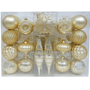 Wondershop Fashion Gold Ornament Set $20