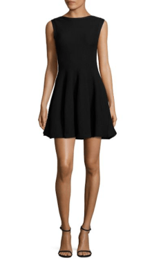 Alice & Olivia Rema Textured Fit-&-Flare Dress $275