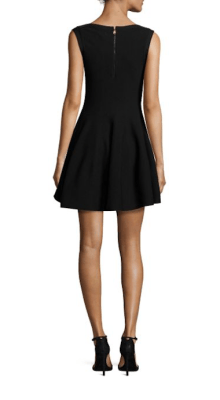Alice & Olivia Rema Textured Fit-&-Flare Dress Back $275
