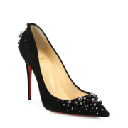 Christian Louboutin Candidate Pearly Suede Pumps Black, $1,195