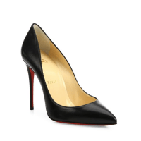 Christian Louboutin Pigalle Follies Nappa Leather Point-Toe Pumps $675