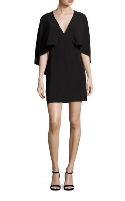 Dresses Evolve Stay the Same Halston Heritage Flowy Cape Sleeve Crepe Dress $295