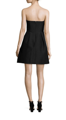 Halston Heritage Strapless Faille Dress Back $395