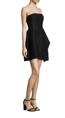 Halston Heritage Strapless Faille Dress Side $395