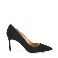 Manolo Blahnik BB 90 Crepe De Chine Point-Toe Pumps Side $595