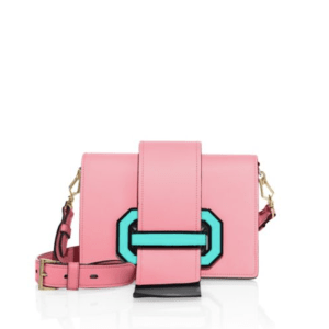 Prada City Two-Tone Leather Crossbody Pesco $2,160