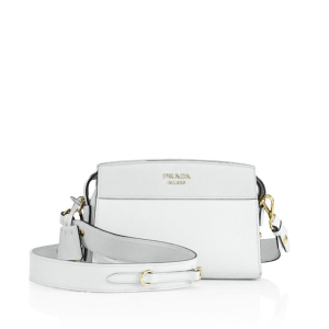 Prada Esplanade Leather Crossbody Bianco $1,600