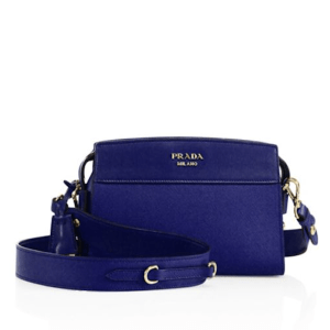 Prada Esplanade Leather Crossbody Bluette $1,600