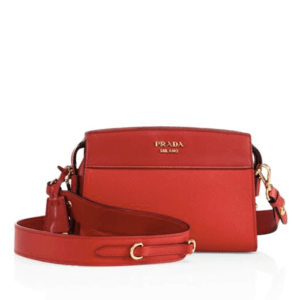 Prada Esplanade Leather Crossbody Rosso $1,600