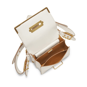 Prada Lasercut Leather Cahier Shoulder Bag Open $3,080