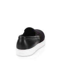 Prada Mixed-Media Leather & Suede Slip-On Sneakers Back $595