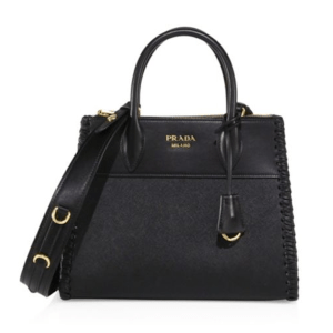 Prada Paradigm Small Leather Tote Nero $2,400