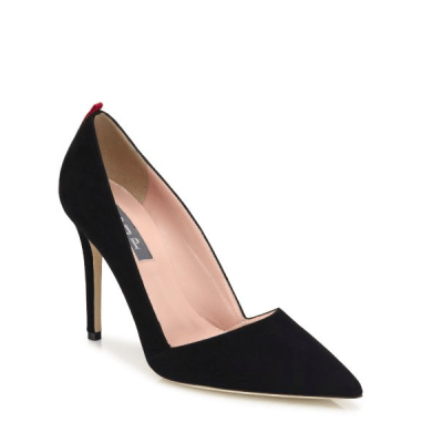 SJP Rampling Suede Point-Toe Pumps $355