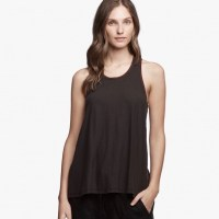 James Perse Contrast Ringer Tank Carbon:Dark Plum $95