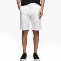 James Perse Cotton Metal Short Chalk $225