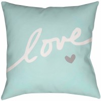 Surya Love Forever Throw Pillow Blue $39.99