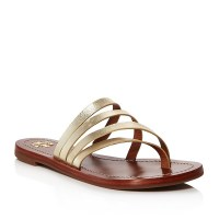 Tory Burch Patos Metallic Leather Thong $195