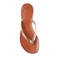 Tory Burch Terra Metallic Flip Flops Top $125