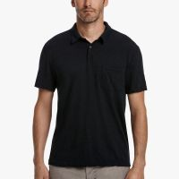 James Perse Contrast Stitch Polo Deep $135