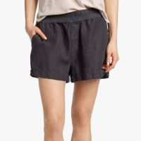 James Perse Canvas Linen Short Carbon Pigment $165