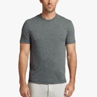 James Perse Melange Tech Jersey Tee Anthracite $95