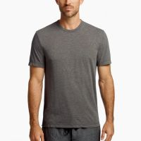 James Perse Melange Tech Jersey Tee Carbon $95