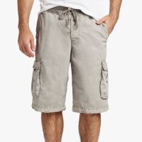 James Perse Stretch Poplin Cargo Short Steel Pigment $175