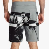James Perse Y:Osemite Printed Palm Boardshort Back Iron $345