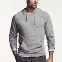 James Perse Cashmere Pullover Hoodie Heather Grey $450