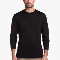 James Perse Cotton Double Neckband Sweater Black Heather Charcoal $175