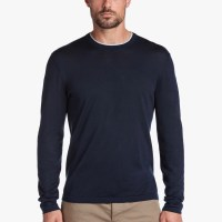 James Perse Cotton Double Neckband Sweater French Navy Platinum $175