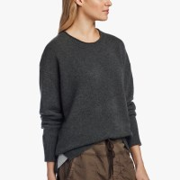 James Perse Oversized Cashmere Sweater Sepia Heather Grey $375